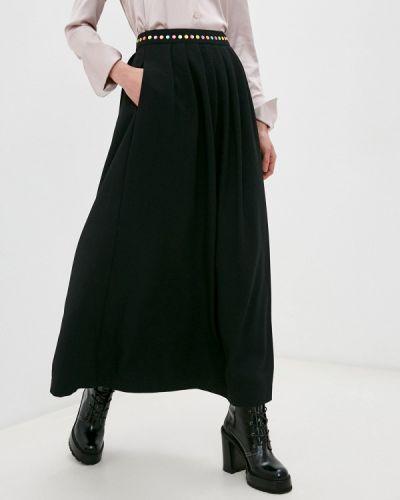 Черная юбка свободного кроя Love Moschino