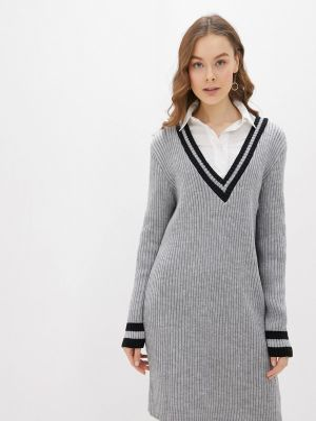 Платье серое вязаное Numinou
