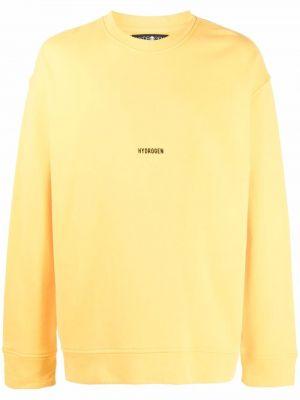 Żółta bluza z printem Hydrogen