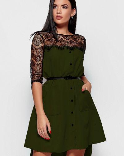 Вечернее платье осеннее хаки Karree