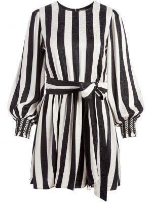 Черное платье мини с длинными рукавами с манжетами с нашивками Alice+olivia