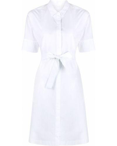 Хлопковое белое платье мини с воротником Fabiana Filippi