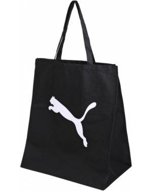 Сумка шоппер черная походная Puma