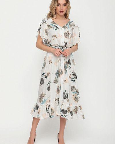 Прямое белое платье А-силуэта Magnet