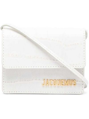Кожаная белая маленькая сумка с тиснением Jacquemus