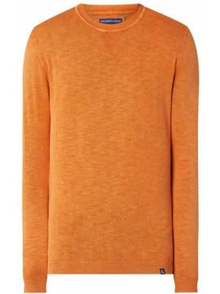 Prążkowany pomarańczowy sweter bawełniany Colours & Sons