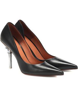 Туфли на каблуке черные кожаные Vetements
