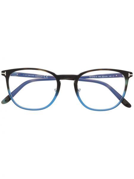 Czarny oprawka do okularów okrągły Tom Ford Eyewear