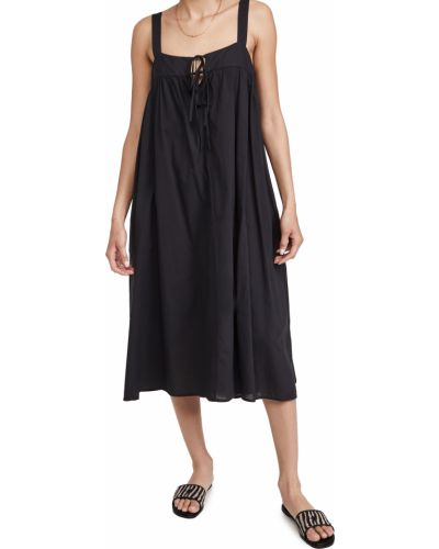 Черное платье с декольте с подкладкой Xírena