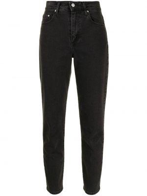 Хлопковые с завышенной талией черные укороченные джинсы Nobody Denim