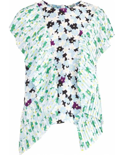 Блузка с рюшами приталенная Kenzo