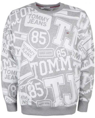 Bluza bawełniana oversize z printem Tommy Hilfiger
