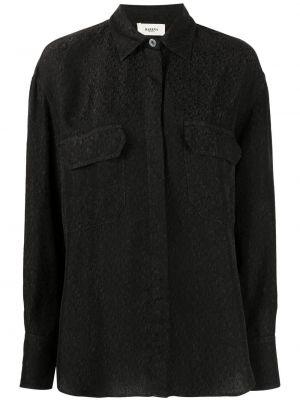 Черная классическая рубашка с воротником с карманами Barena