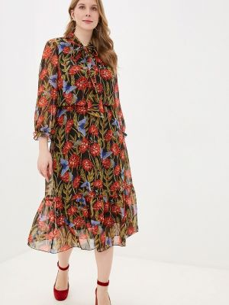 Повседневное платье осеннее черное Adele Fashion