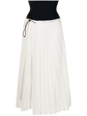 Белая плиссированная юбка Toga Pulla