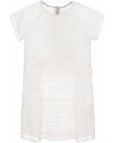 Платье мини с вырезом расклешенное Burberry