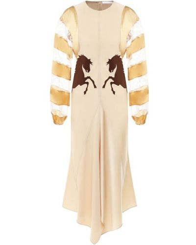 Платье мини миди со вставками Chloé