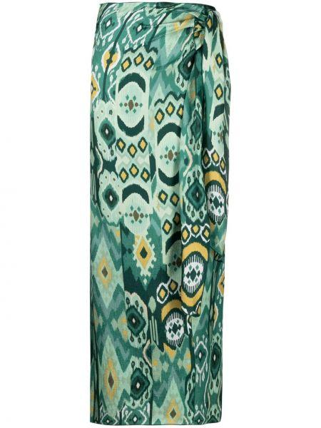 Шелковая прямая с завышенной талией юбка макси Antonelli