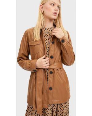 Кожаная куртка из искусственной кожи Stradivarius