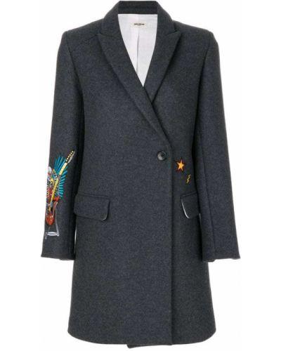 Пальто с вышивкой шерстяное с вышивкой Zadig & Voltaire