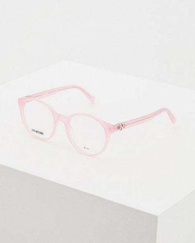 Оправа для очков розовый Love Moschino