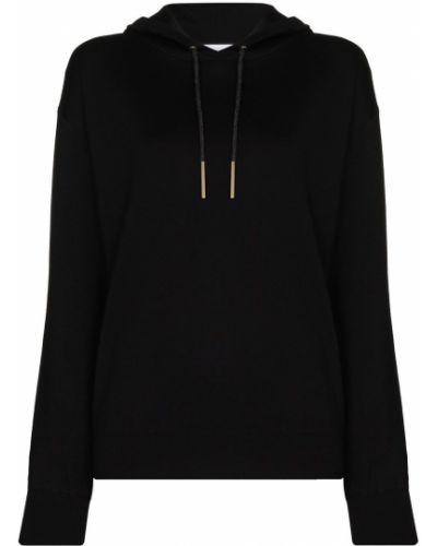 Черное худи с капюшоном на шнурках Olivia Von Halle