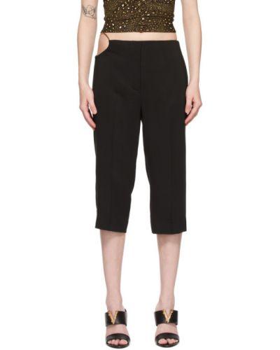 Брючные черные укороченные брюки с карманами Versace