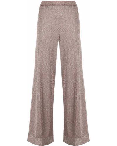 Розовые с завышенной талией брюки с поясом Missoni