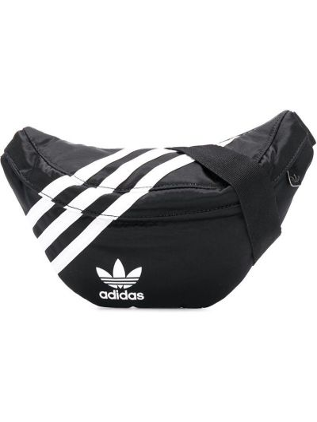 Czarny pasek z paskiem z nylonu Adidas