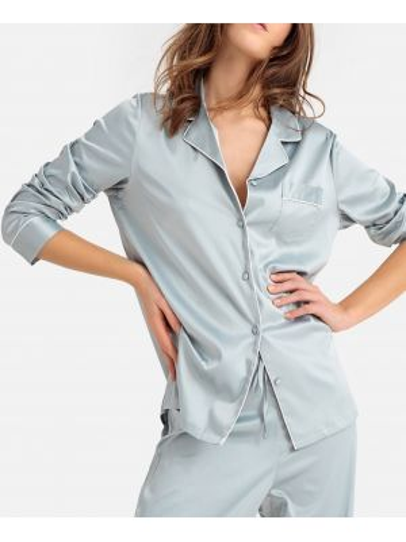 Пижама с брюками на пуговицах с длинными рукавами La Redoute Collections