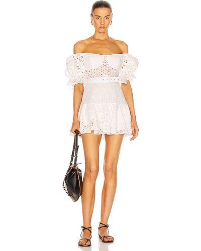 Платье с вышивкой - белое Charo Ruiz Ibiza