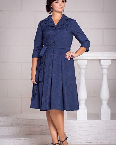 Деловое платье на пуговицах с отложным воротником Filigrana