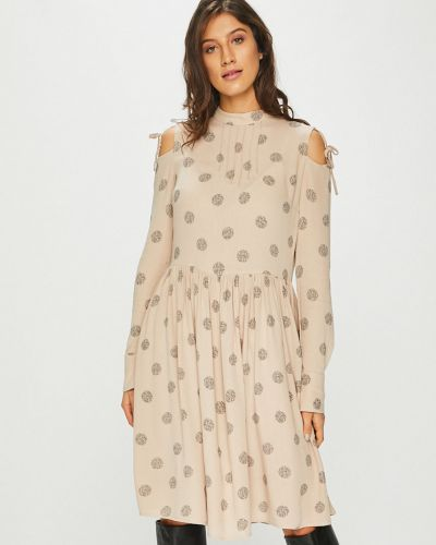 Платье мини - бежевое Review