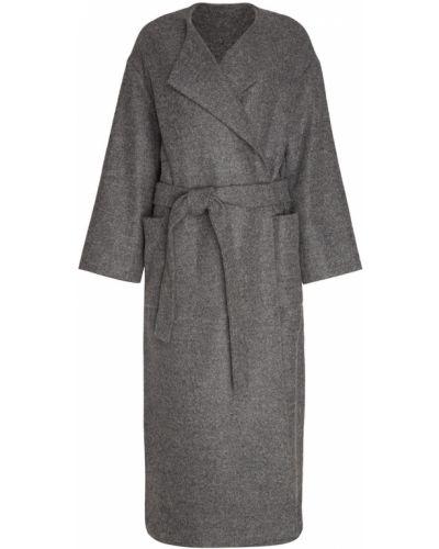 Пальто серое из альпаки Alexander Terekhov