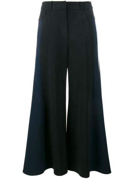 Черные укороченные брюки свободного кроя из вискозы Peter Pilotto