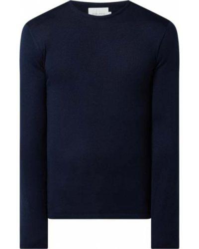 Niebieski sweter wełniany na co dzień Casual Friday
