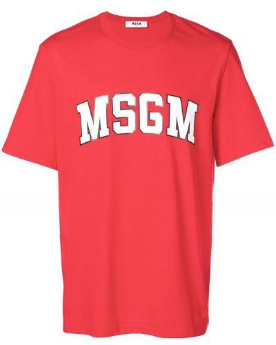 Футболка хлопковая с логотипом Msgm