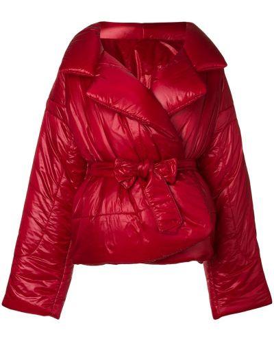 Дутая куртка свободная красная Norma Kamali