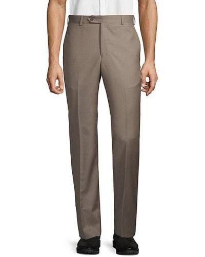 Брючные шерстяные брюки с карманами Zanella