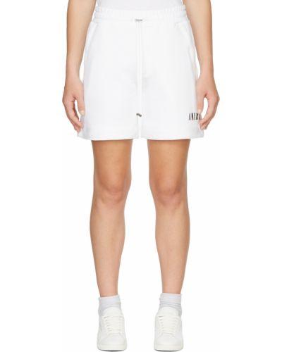 Белые махровые шорты Amiri