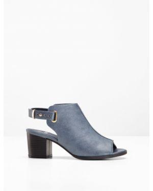 Сандалии на каблуке синий Bonprix