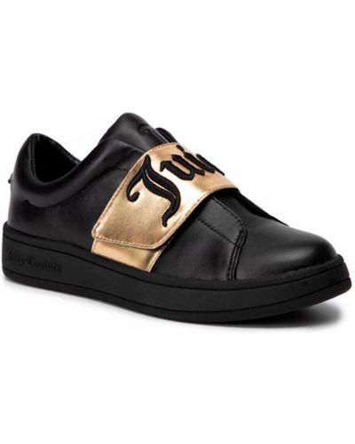 Кожаные кеды - черные Juicy Couture