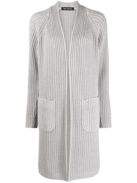 Кашемировое вязаное серое длинное пальто Iris Von Arnim