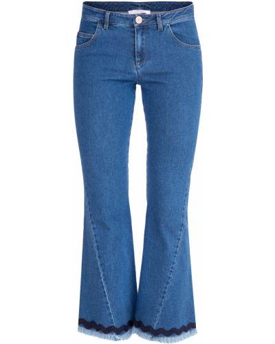 Расклешенные джинсы укороченные с аппликацией See By Chloe