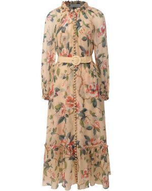 Платье с поясом Zimmermann