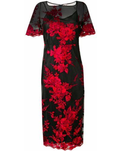 Платье мини с цветочным принтом с квадратным вырезом Antonio Marras