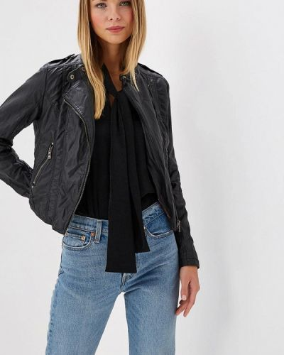 Кожаная куртка весенняя черная Fascinate
