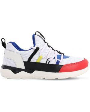 Хлопковые ватные ажурные кроссовки на шнурках Karl Lagerfeld