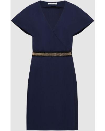 Платье мини - синее Lanvin