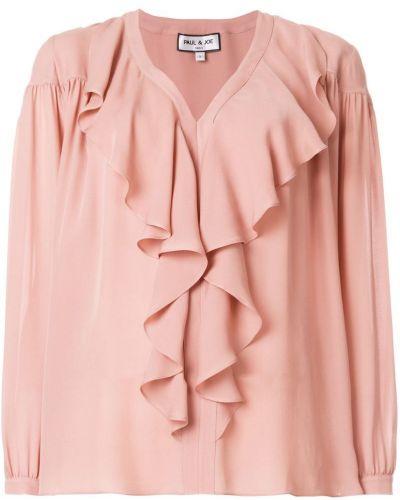 Блузка с рюшами шелковая Paul & Joe